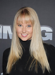 Genevieve Morton attended the 'Summer of 86' premiere wearing her hair in a cute straight cut with bangs.