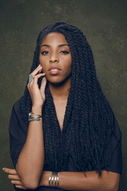Jessica Williams posed for her Sundance Film Festival portrait wearing a full head of dreadlocks.