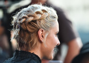 Greta Gerwig topped off her look with a cute braided updo when she attended the LA premiere of 'Mistress America.'