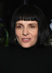 Juliette Binoche wore her hair in a bob with blunt bangs at the 'Clouds of Sils Maria' after-party.