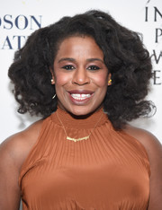 Uzo Aduba attended the Broadway opening of 'Sunday in the Park with George' wearing her natural curls.