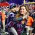 Gisele Bundchen, wife of  Tom Brady #12 of the New England Patriots, walks on the field with their son, Benjamin after defeating the Seattle Seahawks during Super Bowl XLIX at University of Phoenix Stadium on February 1, 2015 in Glendale, Arizona. The Patriots defeated the Seahawks 28-24.