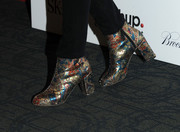 Rebecca Dayan looked funky in her multicolored metallic boots during the 'Big Sur' premiere in New York City.