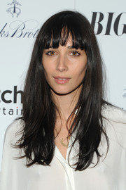 Rebecca Dayan sported a casual loose 'do with choppy bangs when she attended the 'Big Sur' premiere in New York City.