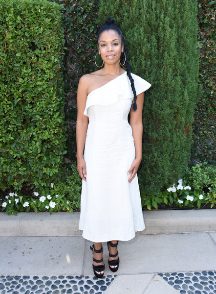 Susan Kelechi Watson One Shoulder Dress