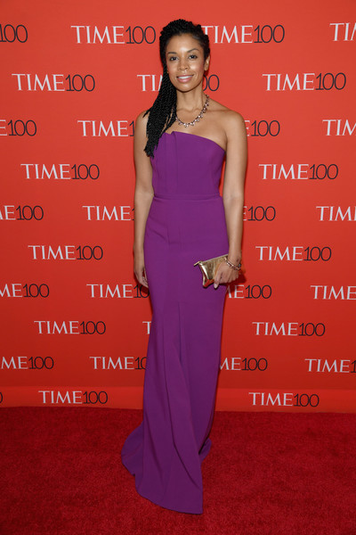 Susan Kelechi Watson Strapless Dress [red carpet,dress,clothing,shoulder,carpet,red carpet,premiere,strapless dress,gown,cocktail dress,flooring,susan kelechi watson,time 100,jazz,new york city,lincoln center]
