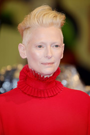 Tilda Swinton looked super cool with her messy fauxhawk at the Venice Film Festival screening of 'Suspiria.'