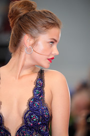 Barbara Palvin attended the Venice Film Festival screening of 'Suspiria' wearing her hair in a voluminous bun.