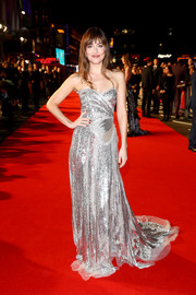 Dakota Johnson was a radiant standout in a strapless sequined gown by Gucci at the BFI London Film Festival premiere of 'Suspiria.'