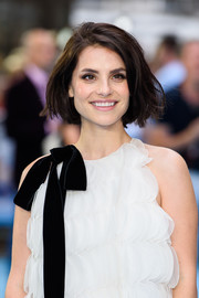 Charlotte Riley wore her hair in a casual bob at the UK premiere of 'Swimming With Men.'