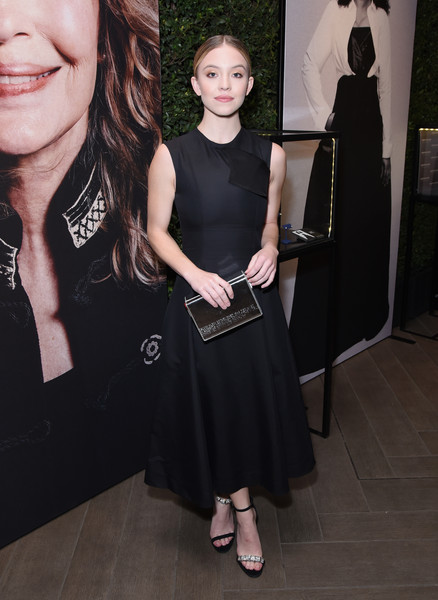 Sydney Sweeney Evening Sandals [elle,hearts on fire,loreal paris,clothing,little black dress,dress,fashion,hairstyle,cocktail dress,premiere,fashion design,neck,haute couture,los angeles,beverly hills,california,four seasons hotel,25th annual women in hollywood celebration,calvin klein,sydney sweeney]