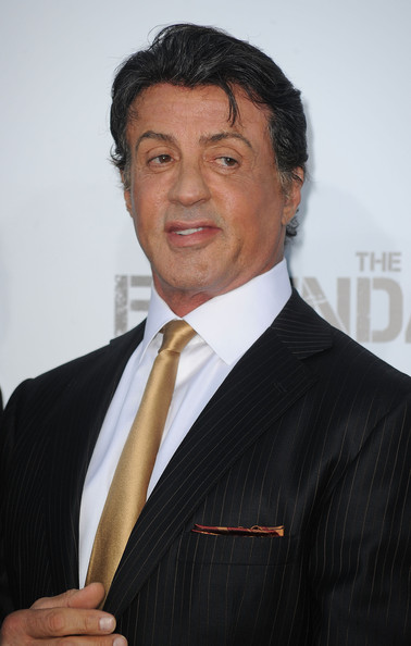 Sylvester Stallone Narrow Solid Tie []