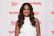 Laila Ali got dolled up with this long wavy 'do for the T.J. Maxx event.