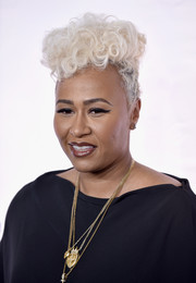Emeli Sande styled her hair in a funky curly fauxhawk for TIDAL X: 1015.