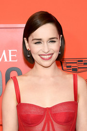 Emilia Clarke wore her hair in a neat side-parted bob at the 2019 Time 100 Gala.