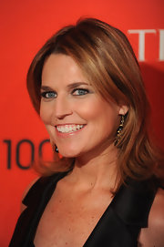 Savannah Guthrie's layered cut was styled with a sweet flick through the ends for the 2012 TIME 100 Gala in NYC.