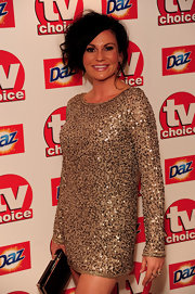 Lucy Pargeter brought a lot of glitz and glam to the TV Choice Awards with her long-sleeve gold sequined shift.