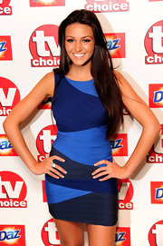 Michelle showed off her form fitting blue dress while hitting the TV Choice Awards.