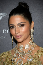 Camila Alves brushed her hair back into a tight top knot for the world premiere of 'Gold.'