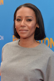 Melanie Brown walked the 'Paddington' premiere red carpet wearing her hair in a simple bob.