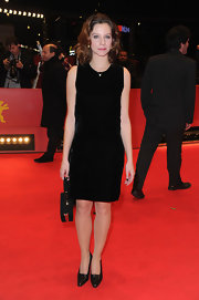 Ana Moreira wore a black velvet dress to the Berlin Film Festival.
