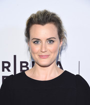 Taylor Schilling swept her hair back into a loose bun for the Tribeca Film Fest premiere of 'Take Me.'