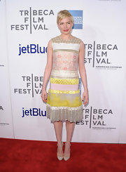 Michelle Williams arrived at the 'Take This Waltz' premiere wearing a pair of beige Mary Janes.