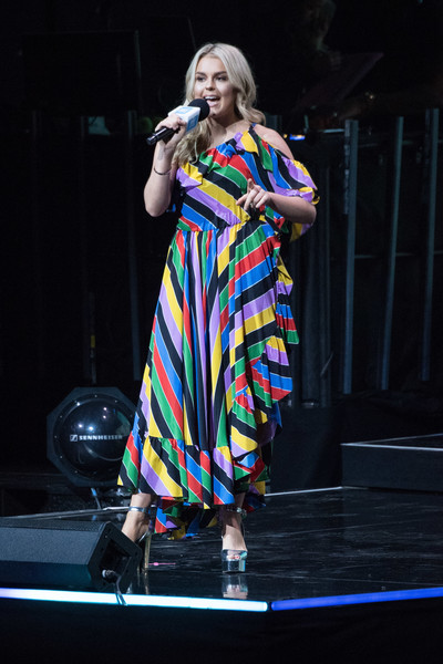 Tallia Storm One Shoulder Dress [performance,entertainment,performing arts,stage,performance art,public event,fashion,event,talent show,singing,tallia storm,wembley arena,london,england,day uk,we day uk]