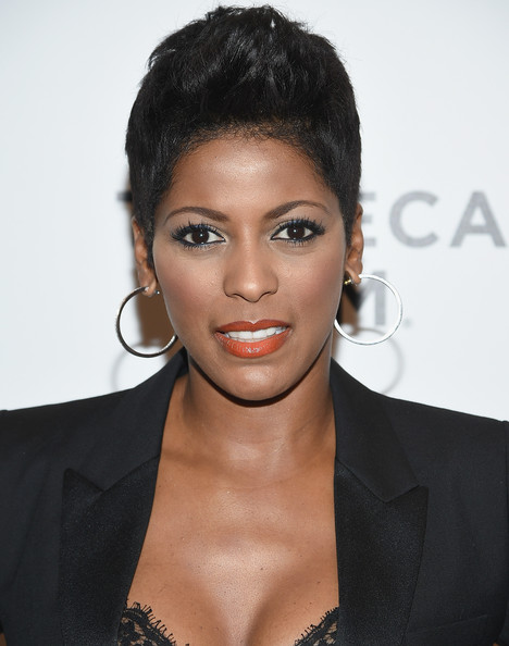 Tamron Hall Fauxhawk [hair,hairstyle,face,eyebrow,lip,beauty,black hair,chin,forehead,eyelash,tamron hall,nas: time is illmatic,new york city,museum of modern art,premiere,new york premiere]