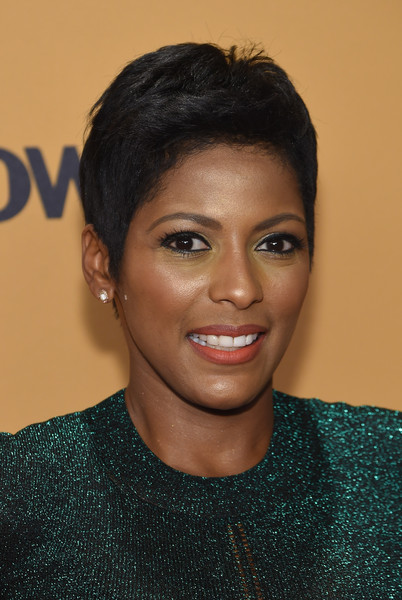 Tamron Hall Fauxhawk [hair,face,eyebrow,hairstyle,forehead,chin,lip,black hair,pixie cut,smile,guests,tamron hall,belief,thetimescenter,new york,new york premiere,premiere]