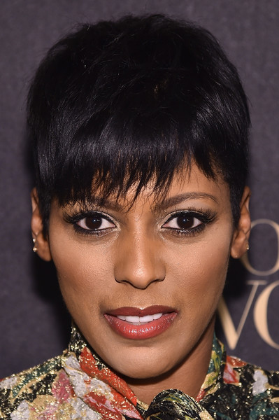 Tamron Hall Pixie [arrivals,loreal paris women of worth celebration 2016 arrivals,show anchor tamron hall,hair,face,hairstyle,eyebrow,lip,black hair,chin,bangs,beauty,forehead,new york city,loreal paris women of worth celebration 2016]