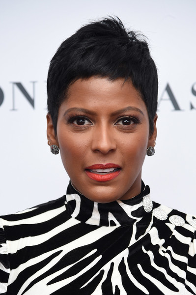 Tamron Hall Pixie [hair,face,hairstyle,eyebrow,lip,black hair,forehead,beauty,chin,fashion,tamron hall,arrivals,women of the year awards,brooklyn,new york,kings theatre,glamour,glamour celebrates 2017 women of the year awards]