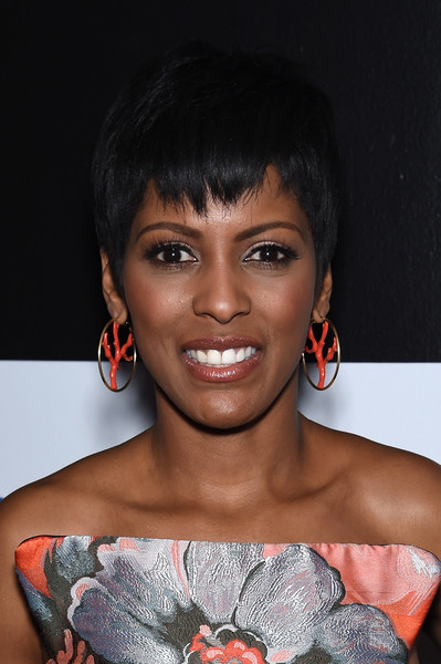 Tamron Hall Pixie [david remnick hosts the magazine,hair,face,hairstyle,lip,shoulder,skin,eyebrow,beauty,chin,black hair,white house correspondents,tamron hall,new yorker,w hotel rooftop,washington dc,the new yorker,dinner weekend,annual party kicking off,dinner weekend pre-party]