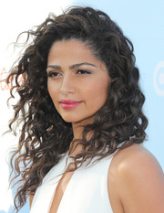 Camila Alves sported her signature long curls at the Target Cat & Jack launch.