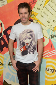 Perez Hilton showed Madonna some love with this T-shirt at the 50th anniversary of Target.