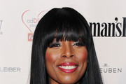 Tasha Smith Long Straight Cut with Bangs