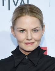 Jennifer Morrison sported a no-frills center-parted updo when she attended the 'Taxi Driver' 40th anniversary celebration.