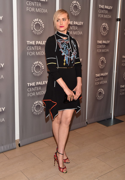 Taylor Schilling Embroidered Dress