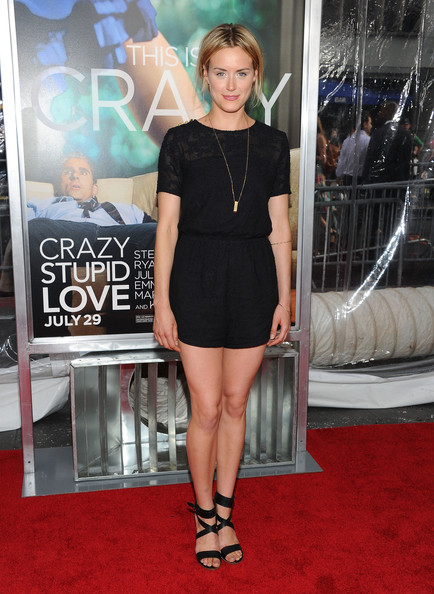 Taylor Schilling Strappy Sandals [crazy stupid love,red carpet,clothing,carpet,premiere,dress,cocktail dress,little black dress,shoulder,leg,fashion,arrivals,taylor schilling,new york city,ziegfeld theater,world premiere]