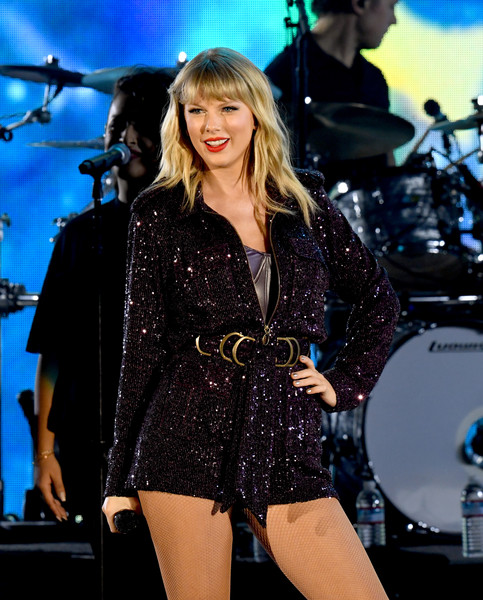 Taylor Swift Romper [performance,music artist,entertainment,musician,singer,performing arts,event,singing,public event,music,camila cabello,billie eilish,becky g,jonas brothers,lizzo,marshmello,we can survive,radio.com presents,taylor swift,the hollywood bowl]