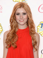 Katherine McNamara attended the Teen Choice Awards wearing her hair in a cascade of curls.