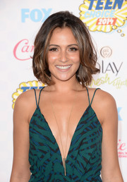 Italia Ricci looked cute with her short, mussed-up waves at the Teen Choice Awards.