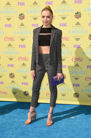 For her Teen Choice Awards look, Peyton List suited up in playfully chic style with this Diane von Furstenberg polka-dot ensemble.
