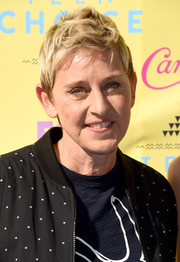 Ellen DeGeneres styled her short hair into a fauxhawk for the 2015 Teen Choice Awards.