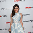 Lucy Hale in a Light Blue Floral