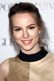 Bridgit Mendler looked mildly edgy at the Teen Vogue Young Hollywood party with her mussed-up ponytail.