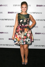 Kaitlyn Jenkins looked super lovely in her floral fit-and-flare dress at the Teen Vogue Young Hollywood party.