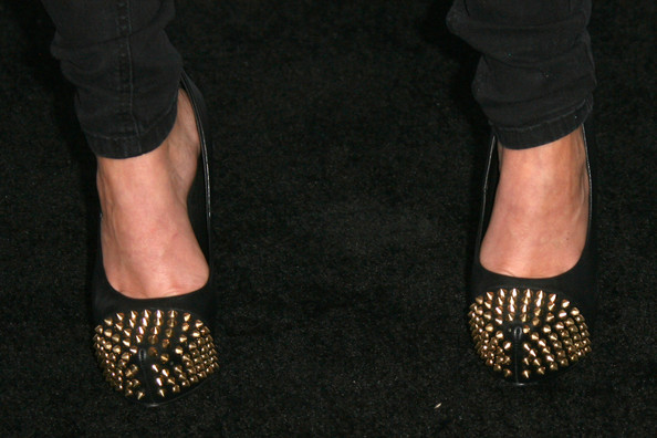 Shenae Grimes was edgy-chic at the Teen Vogue Young Hollywood party in her spiked platform pumps.