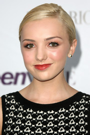 Peyton List wore her hair in a sleek ponytail for a neat finish at the Teen Vogue Young Hollywood party.