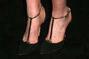 Portia Doubleday stepped out in super-elegant black T-strap pumps at the Teen Vogue Young Hollywood party.